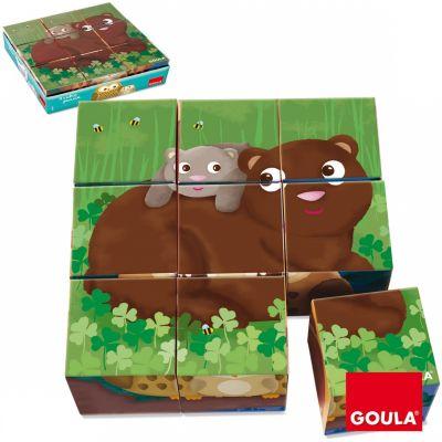 Puzzle cubes Animaux de la forêt (9 cubes) Goula