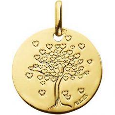 Médaille Arbre aux coeurs 14 mm (or jaune 750°)