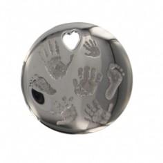 Pendentif empreinte big one avec mousqueton (argent 925°)