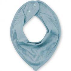 Bavoir bandana bleu minéral