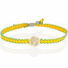 Bracelet cordon Primegioie Zodiaque Cancer (or jaune 375°)