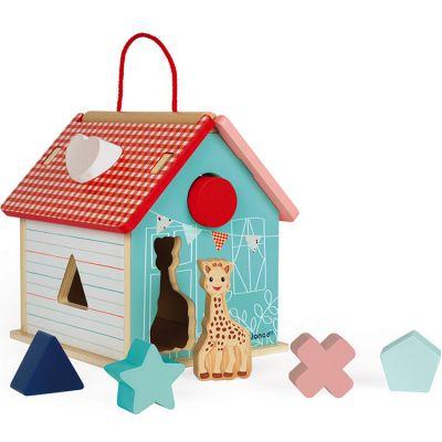 Boîte à formes maison Sophie la girafe  par Janod