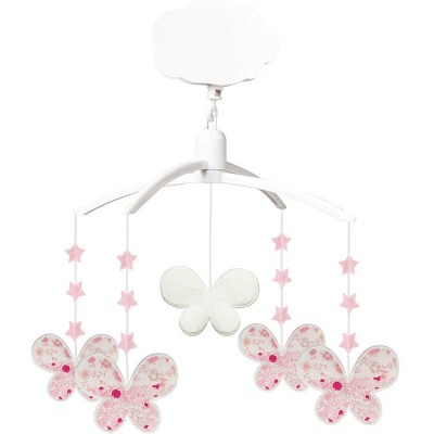 Mobile musical papillon Fleurs Roses  par Trousselier