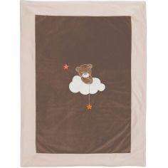 Couverture velours Basile l'ours (75 x 100 cm)