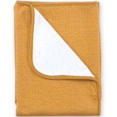 Couverture réversible Cadum ocre jaune (75 x 100 cm)