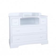 Commode à langer avec meuble de rangement arrière Rêverie blanc