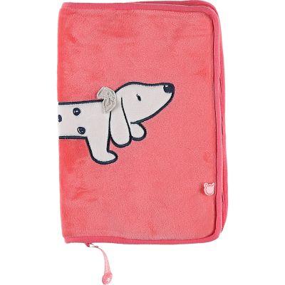 Protège carnet de santé veloudoux Amy & Zoé chien rose
