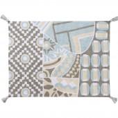 Tapis lavable indian bag gris bleu (120 x 160 cm) - Lorena Canals