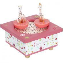 Boîte à musique magnétique bois Sophie la girafe  par Trousselier