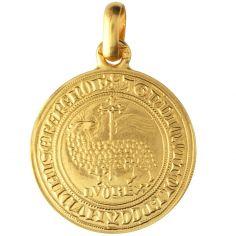 Médaille Agnel de Louis X 18 mm (or jaune 750°)