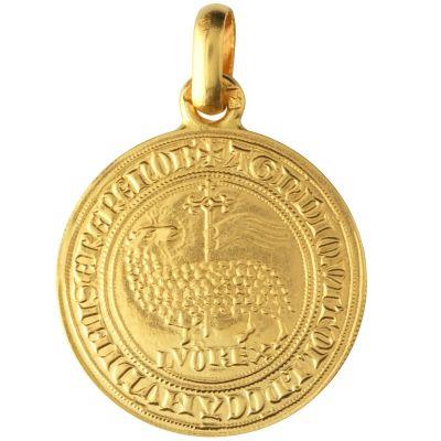 Médaille Agnel de Louis X 18 mm (or jaune 750°)  par Monnaie de Paris