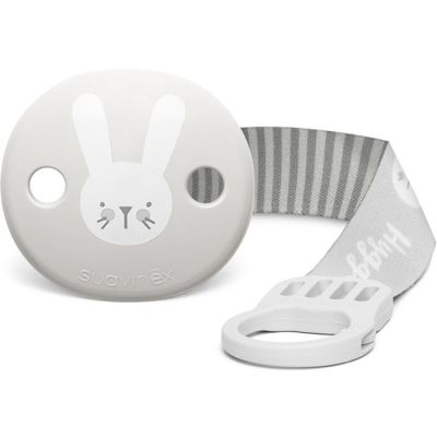 Attache sucette ruban Hygge Baby lapin gris  par Suavinex