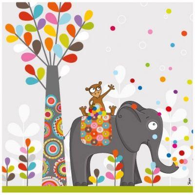 Tableau petits confettis (20 x 20 cm)  par Série-Golo