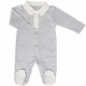 Pyjama léger Grey Birds (1 mois : 56 cm) - Les Rêves d'Anaïs