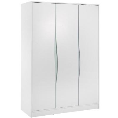 Armoire 3 portes Wave étagère haute blanche et pastel  par Geuther