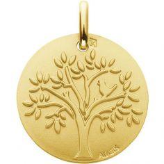 Médaille Arbre de Vie Oiseau (or jaune 750°)