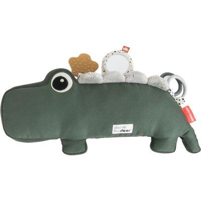 Peluche d'activités vibrante Croco vert  par Done by Deer