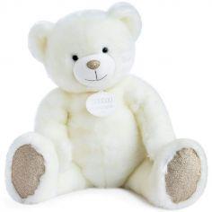 Peluche géante ours blanc La Peluche (80 cm)