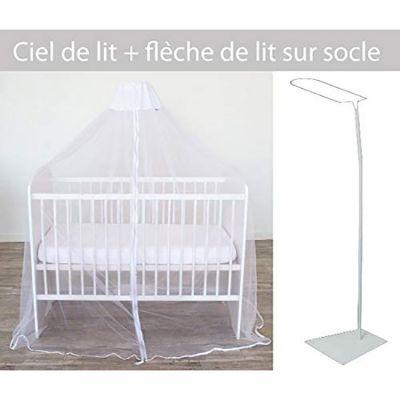 Ciel de lit moustiquaire + flèche sur socle pour lit  par Domiva