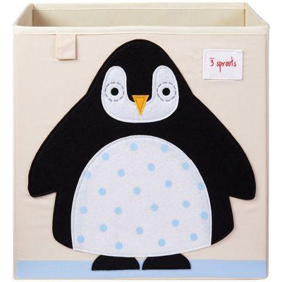 Cube de rangement Pingouin (33,5 x 33,5 cm)  par 3 sprouts