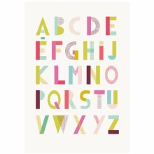 Affiche ABC Superpink by MademoiselleYo (30 x 40 cm)  par Lilipinso