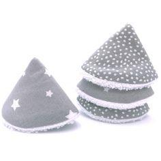 Lot de 4 cônes pare pipi en popeline gris