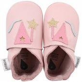 Chaussons bébé en cuir Soft soles Fée roses (15-21 mois) - Bobux