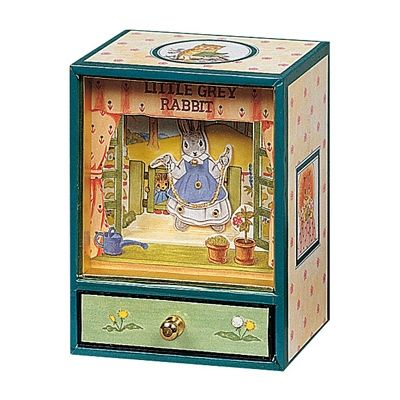 Mini dancing musical Little grey rabbit  par Trousselier