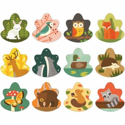 Mémo les animaux de la forêt  par Petit Collage