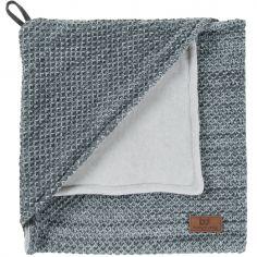Couverture d'emmaillotage grise (82 x 82 cm)