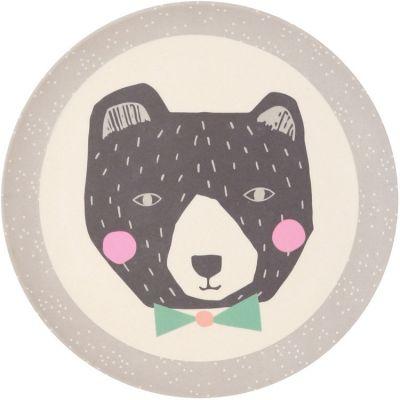 Petite assiette en bambou ours Papa Bear (20,5 cm) Love Maé