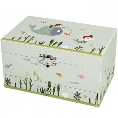 Boîte à bijoux musicale ninon et nioui aquatique  par Trousselier