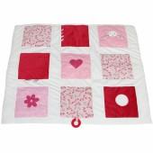 Tapis d'éveil lapin Pink blossom (85 x 100 cm) - Little Dutch