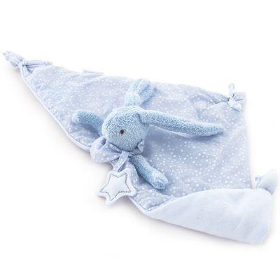 Doudou plat Baby Etoile lapin bleu (51 x 25 cm)  par Pasito a pasito