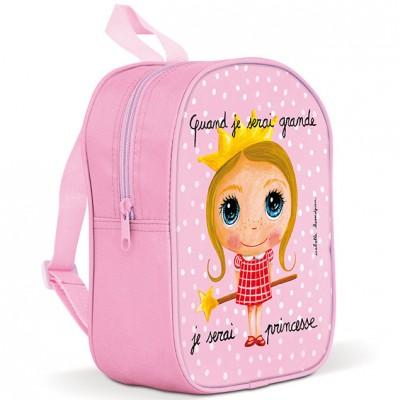 Grand sac à dos avec poches princesse - Quand je serai grande HVxDPiKKl7