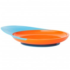 Assiette ventouse Catch plate orange et bleu