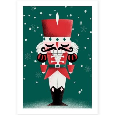 Affiche A3 Noël Casse-Noisette  par Kanzilue