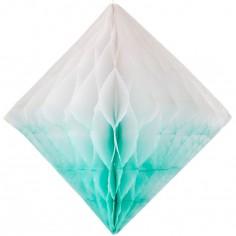 Losange en papier alvéolé turquoise