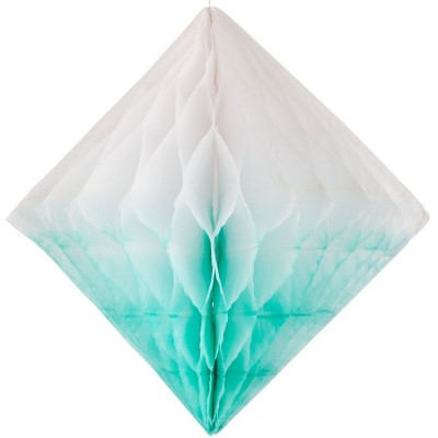 Losange en papier alvéolé turquoise My Little Day