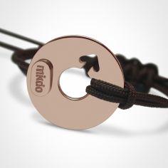 Bracelet ''Disco'' Garçon (or rose 750°)