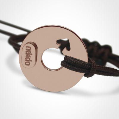 Bracelet 'Disco' Garçon (or rose 750°)  par Mikado