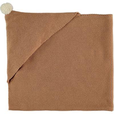 Couverture tricotée à capuche marron So Natural (65 x 65 cm)  par Nobodinoz