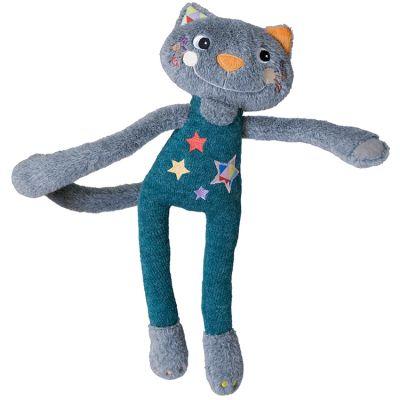 Peluche à suspendre Elastoc le chat acrobate Magic Circus (36 cm) Ebulobo