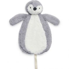 Doudou attache sucette Pingouin storm grey gris