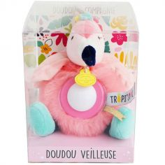 Doudou veilleuse flamant rose Tropi'cool