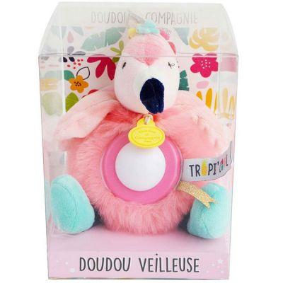 Doudou veilleuse flamant rose Tropi'cool Doudou et Compagnie