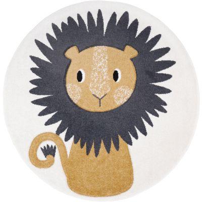 Tapis rond lion Jaggo (120 cm)  par Nattiot