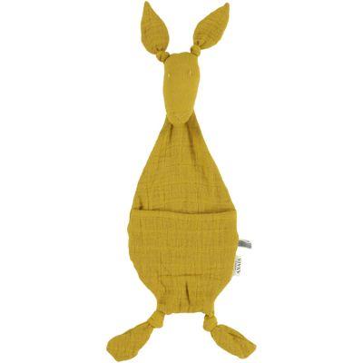 Doudou plat Kangourou Bliss jaune moutarde  par Trixie