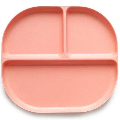 Assiette à compartiments en bambou Bambino rose corail  par EKOBO