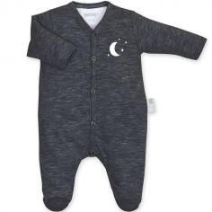 Pyjama léger gris foncé Bmini (0-1 mois : 50 cm)